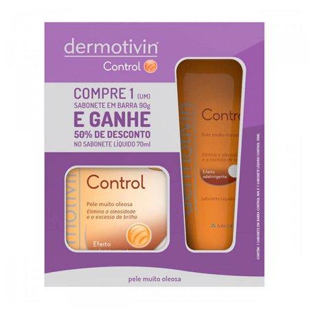 Dermotivin Sabonete Líquido Control + Dermotivin Control Sabonete Barra