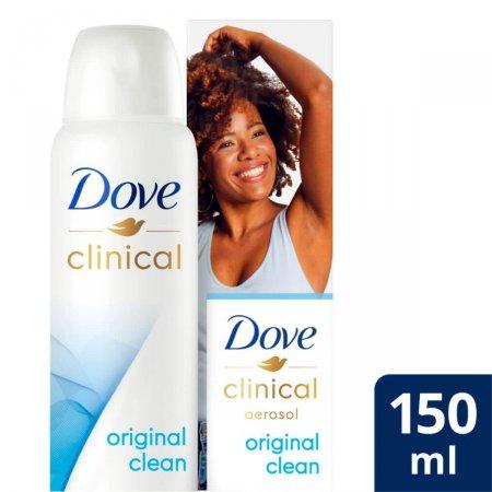 Desodorante Antitranspirante Aerosol Dove Clinical Original Clean