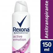 Desodorante Antitranspirante Aerosol Rexona Active Emotion