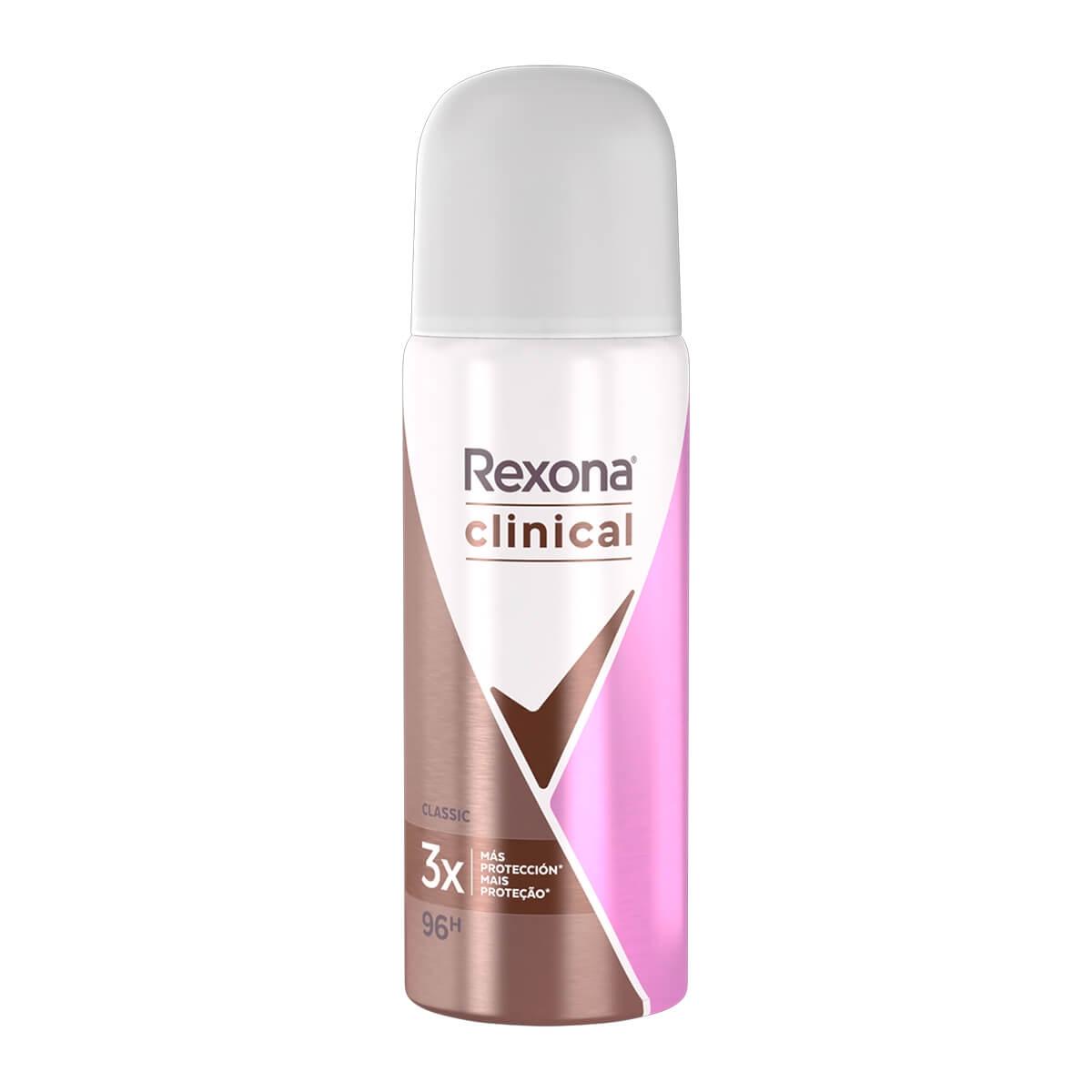 Desodorante Aerosol Antitranspirante Rexona Clinical Classic Feminino com 55ml 55ml