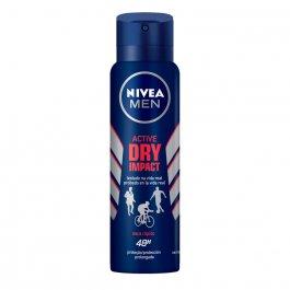 Desodorante Antitranspirante Aerosol Nivea Men Active Dry Impact Masculino com 150ml