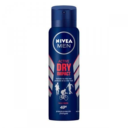 Desodorante Antitranspirante Aerosol Nivea Men Active Dry Impact