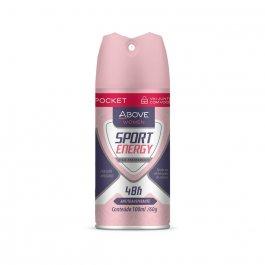 Desodorante Aerossol Antitranspirante Pocket Above Women Sport Energy