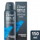 Desodorante Antitranspirante Aerosol Dove Men +Care Clinical Cuidado Total com 150ml