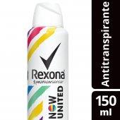 Desodorante Antitranspirante Aerosol Rexona Now United