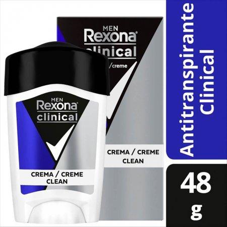 Desodorante Antitranspirante em Creme Rexona Men Clinical
