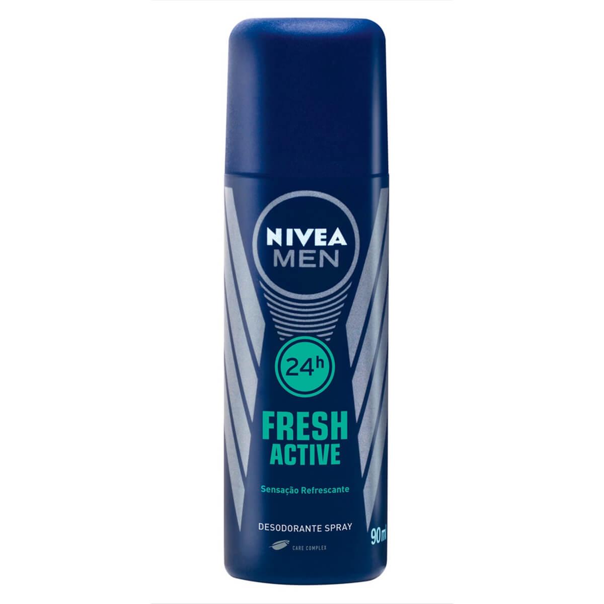 Desodorante Aerosol Nivea Men Fresh Active com 90ml 90ml