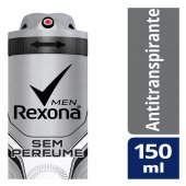 Desodorante Antitranspirante Aerosol Rexona Men Sem Perfume