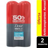 DOVE MEN DESODORANTE AEROSOL CUIDADO TOTAL 2 UNIDADES 150ML CADA COM 50% DESCONTO NA SEGUNDA UNIDADE