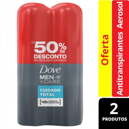 Desodorante Antitranspirante Aerosol Dove Men+Care Cuidado Total