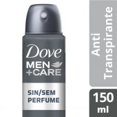 DOVE MEN DESODORANTE AEROSOL SEM PERFUME 89 GR