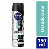 Desodorante Antitranspirante Aerosol Nivea Invisible for Black & White Fresh