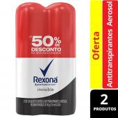 Kit Desodorante Antitranspirante Aerosol Rexona Feminino Invisible