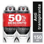 REXONA MEN KIT 2 DESODORANTES AEROSOL INVISIBLE 90G PRECO ESPECIAL