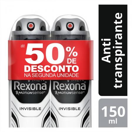 Kit Desodorante Antitranspirante Aerosol Rexona Men Invisible