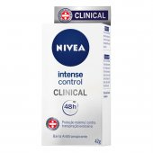 NIVEA BARRA ANTITRANSPIRANTE CLINICAL INTENSO CONTROLE FEMININO 42G