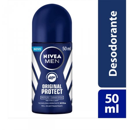 Desodorante Antitranspirante Roll On Nivea Men Original Protect