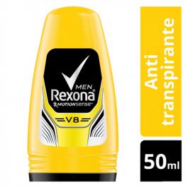 Desodorante Antitranspirante Roll-On Rexona V8 Masculino com 50ml