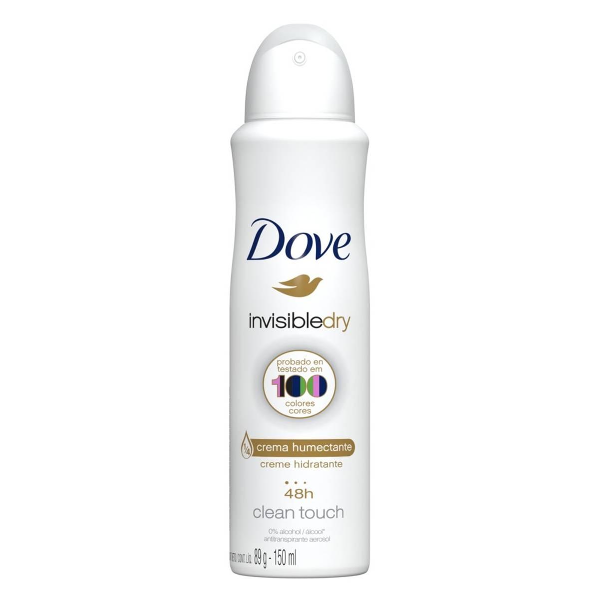 Desodorante Antitranspirante Aerosol Dove Invisible Dry com 150ml 150ml