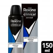 Desodorante Antitranspirante Aerosol Rexona Men Clinical Clean