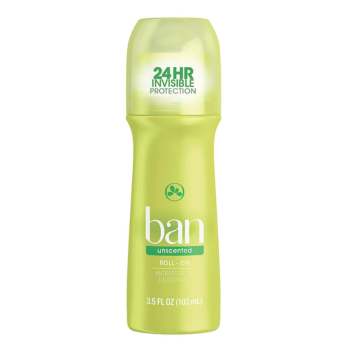 Desodorante Roll-on Ban Unscented Sem Perfume 103ml