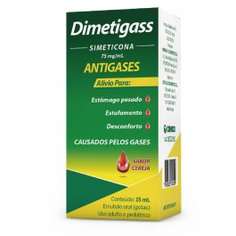 Antigases Dimetigass 75mg Sabor Cereja Gotas com 15ml