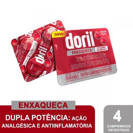 DORIL ENXAQUECA 1 X 4 COMPRIMIDOS