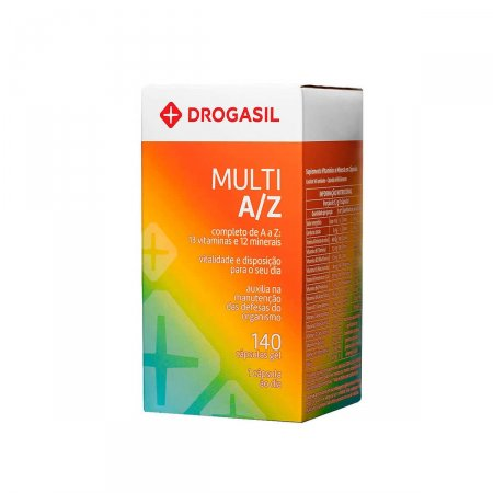 Multivitamínico A/Z Drogasil 140 Cápsulas | Drogasil.com