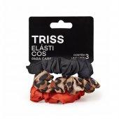Elástico para Cabelo Triss Estampado e Liso com 3 unidades