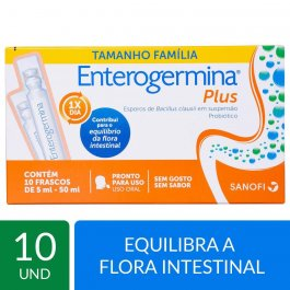 Enterogermina Plus com 10 frascos de 5ml cada