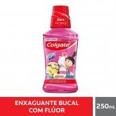 Enxaguante Antisséptico Bucal Colgate Plax Kids Zero Álcool Minions com 250ml