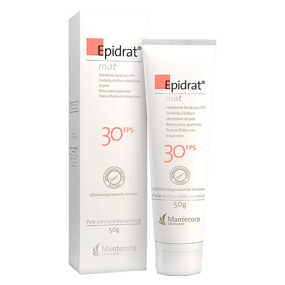 Hidratante Facial Epidrat Mat Mantecorp Efeito Mate FPS 30 com 50g 50g