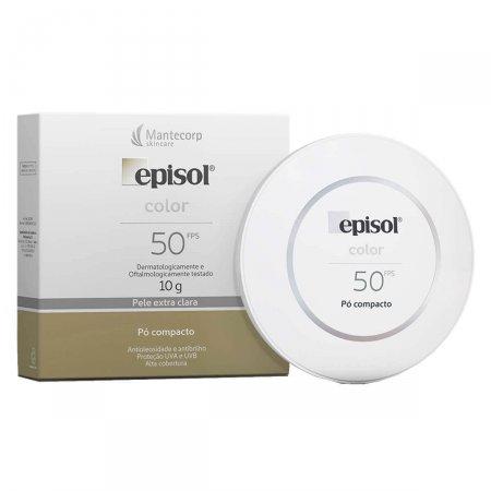 Protetor Solar Episol Color Pó Compacto Pele Extra Clara FPS50