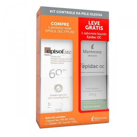 Kit Episol Sec FPS60 + Sabonete Líquido Epidac OC