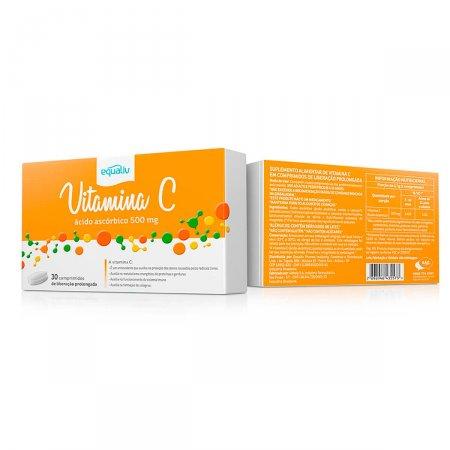 Equaliv Vitamina C 500mg com 30 Comprimidos   Drogasil.com