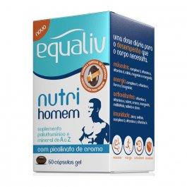 Suplemento Polivitamínico de A-Z Equaliv Nutri Homem com 60 cápsulas gel