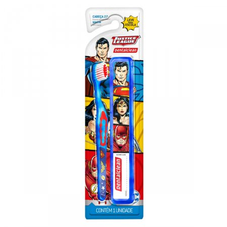 Escova Dental Infantil Dentalclean Liga da Justiça Macia