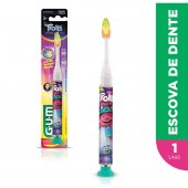 Escova Dental Infantil G.U.M Trolls Luz de Tempo