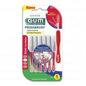 Escova de Dente Interdental Portátil G.U.M Proxabrush Cerda Fina 0.8mm com 6 unidades