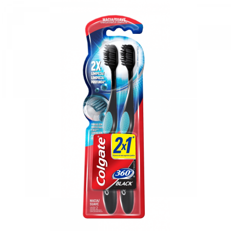 Escova Dental Colgate 360º Black