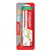 Kit Escova Dental Colgate Slim Soft Advanced + Creme Dental Colgate Total 12
