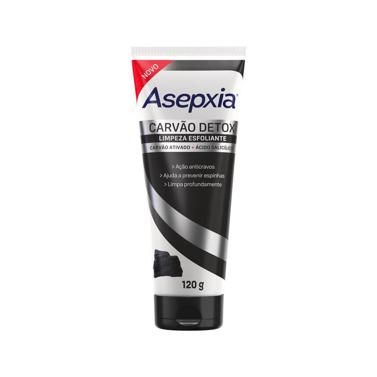 Esfoliante Facial Asepxia Carvão Detox com 120g 120g