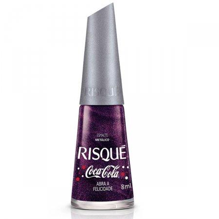 Esmalte Metálico Risque Coca-Cola Abra a Felicidade