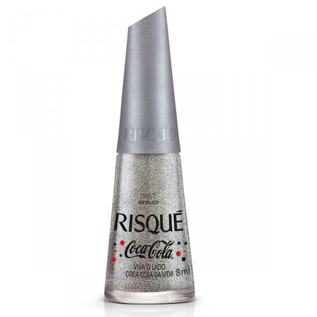 Esmalte Risqué Viva o Lado Coca-Cola da Vida