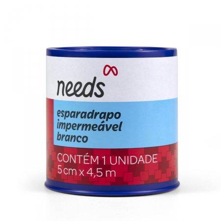 Esparadrapo Impermeável Needs Branco 5cm x 4,5m 1 Unidade | Drogasil.com