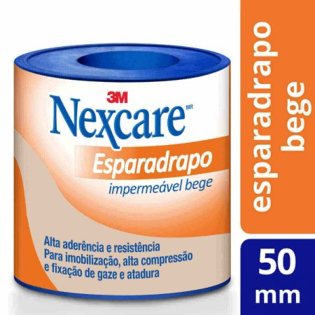 Esparadrapo Impermeável Nexcare Bege 50mm x 3m