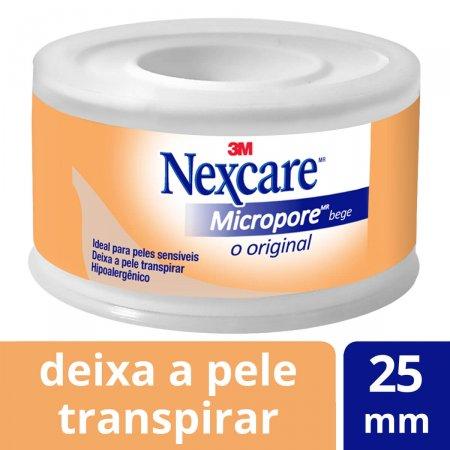 Fita Micropore Nexcare Bege 25mmx4,5m