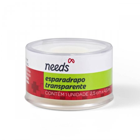 NEEDS ESPARADRAPO TRANSPARENTE 2,5CM X 4,5M