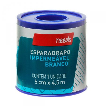 Esparadrapo Impermeável 5cm X 4,5m Needs | Drogasil.com