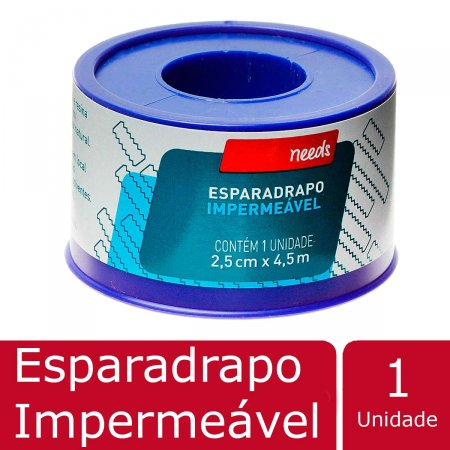 Esparadrapo Impermeável 2,5cm X 4,5m Needs 1 Unidade | Drogasil.com Foto 2